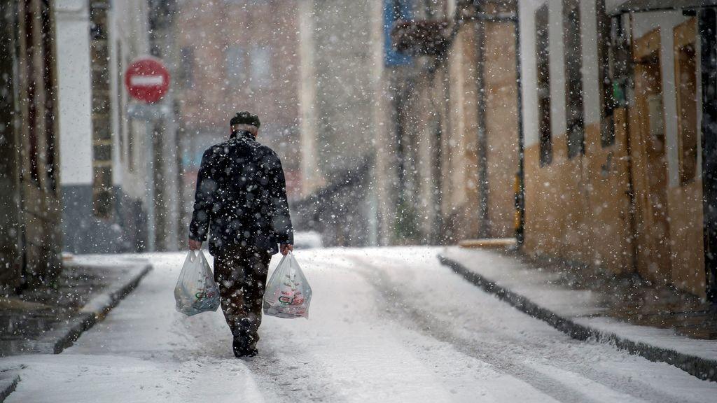 Aviso de riesgo por nieve, frío, viento y fuerte oleaje en 36 provincias