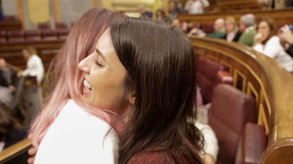 Irene Montero en la jornada de puertas abiertas en el Congreso