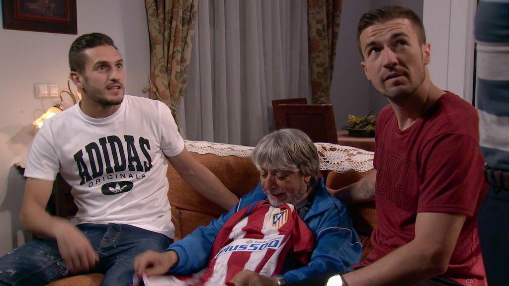 ¡Los atléticos Gabi y Koke visitan Montepinar para dar una sorpresa a Vicente!