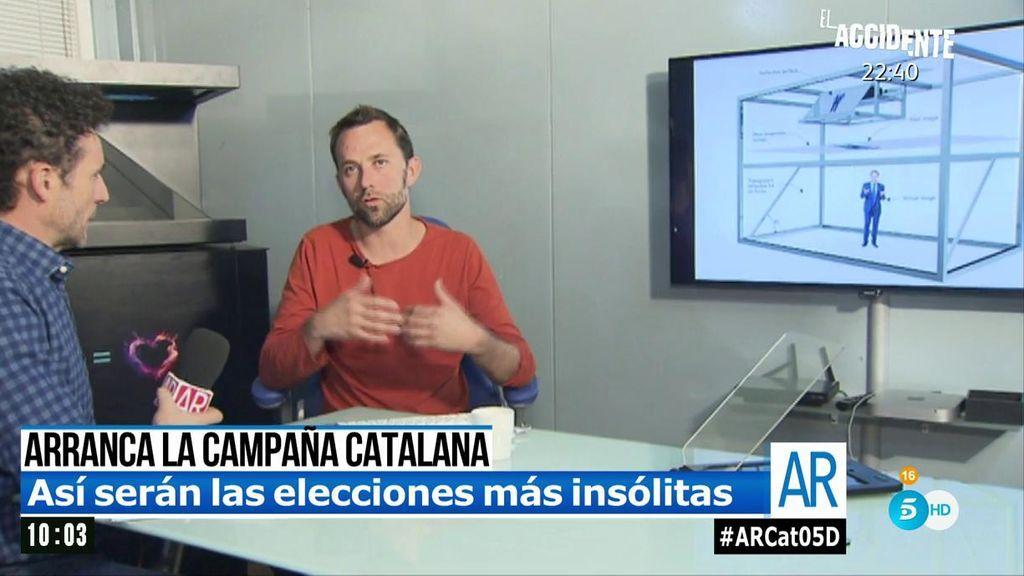 Puigdemont tiene un 'as en la manga' para la campaña a distancia: el holograma