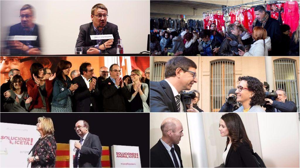 """Historias de la cárcel, bailes y un """"a por ellos"""" en el primer día de campaña de las elecciones catalanas"""