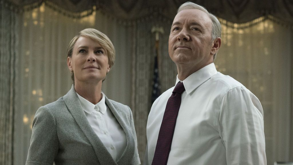 Robin Wright (que interpreta a Claire Underwood) y Kevin Spacey (Frank Underwood), protagonistas de 'House of cards'.