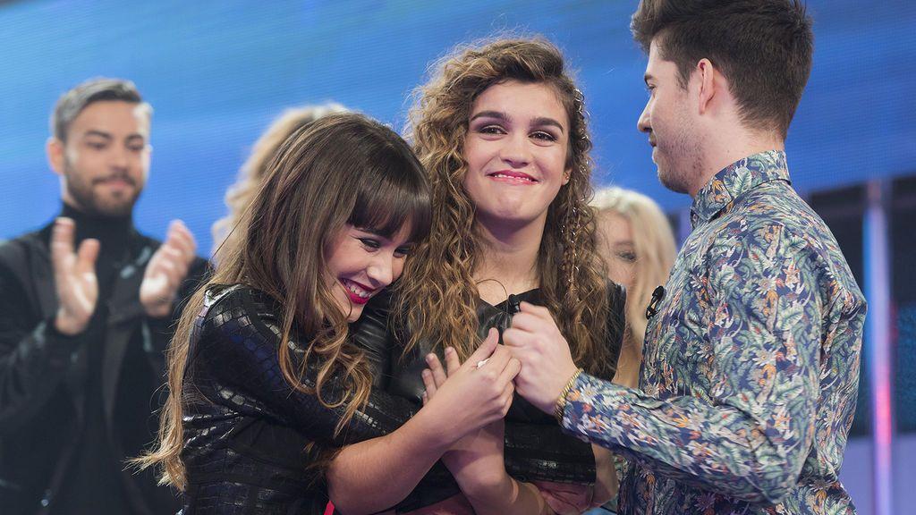Aitana, Amaia y Roi, concursantes de 'Operación triunfo 2017'.