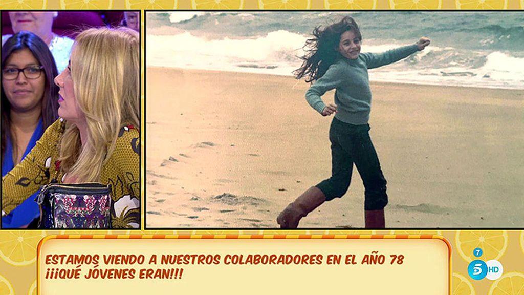 Belén Rodríguez jugaba en la playa ¡y era morena!