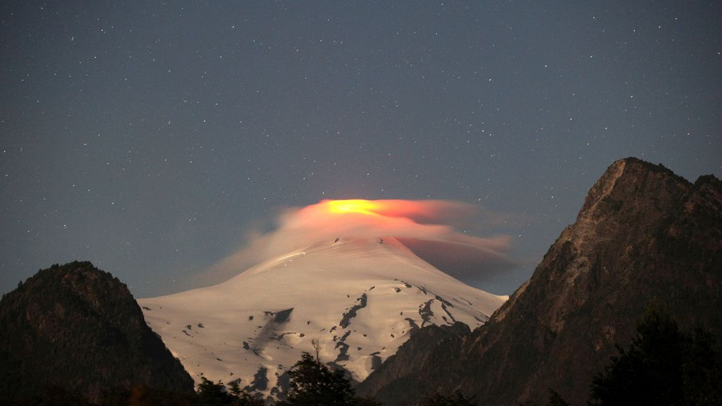Espectacular volcán en Chile