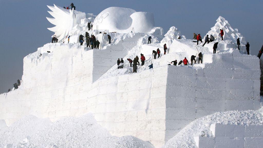 Escultura de nieve
