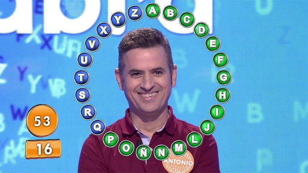 ¡Vaya crack! Antonio acierta 16 palabras del tirón