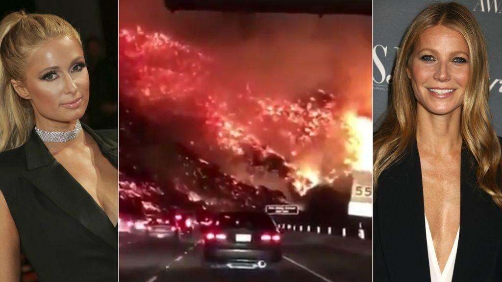 Paris Hilton, Gwyneth Paltrow y más vips, en peligro por el incendio de Bel Air