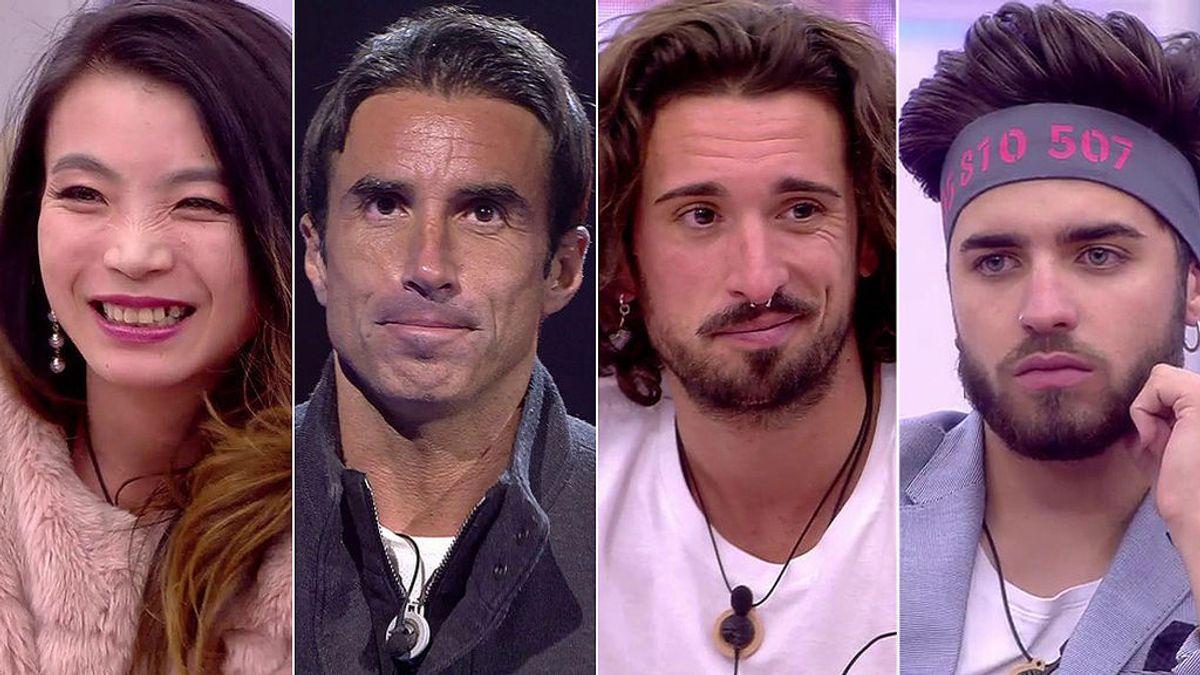 Hugo, Christian, Yangyang y Rubén, finalistas tras una triple expulsión: ¡Uno de ellos ganará 'GH Revolution'!