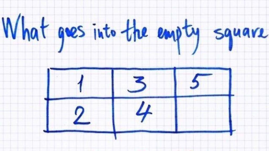 Cinco números y un espacio en blanco ¿Qué falta en este espacio?