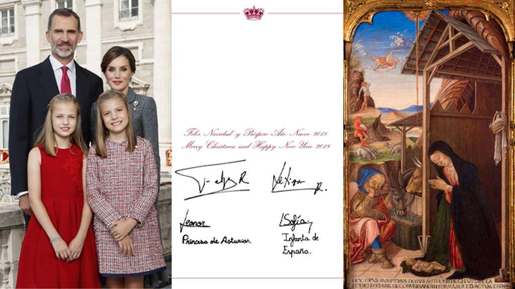 La felicitación navideña de los Reyes: una foto del día de la Fiesta Nacional en el Palacio Real