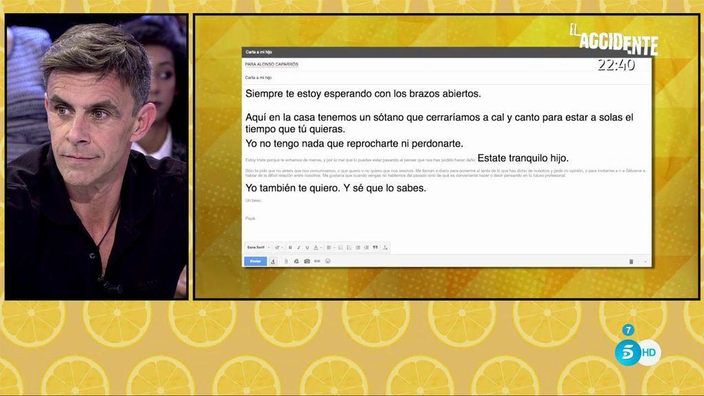 "La respuesta de Andrés Caparrós a la carta de Alonso: ""Solo te pido que no airees que nos comunicamos"""