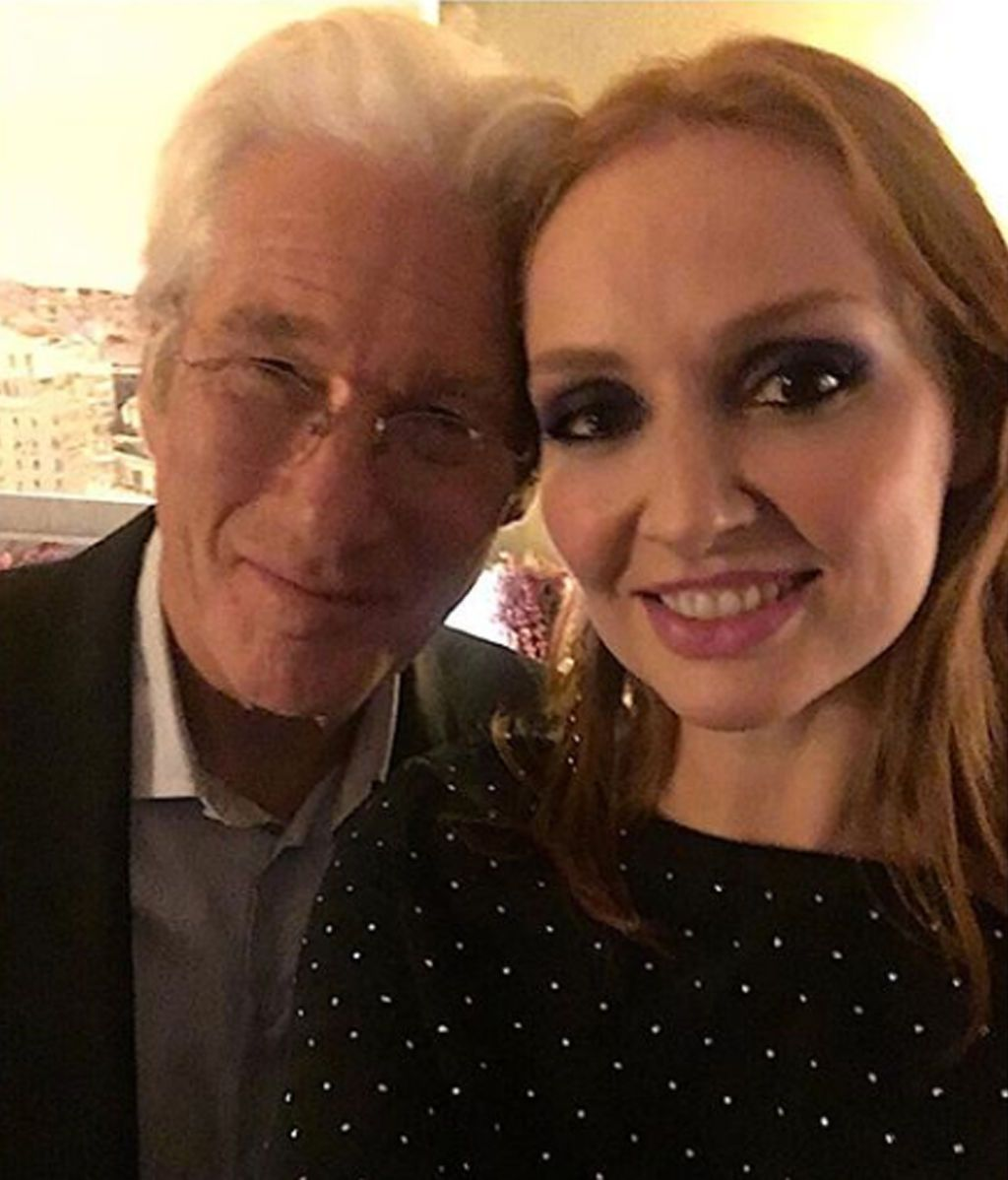 """Cristina Castaño, de cena con Richard Gere: """"Gracias, Richard, por tu cercanía"""""""
