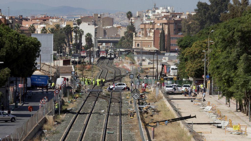 Lanzan dos artefactos explosivos a las obras del AVE en Murcia sin causar daños personales ni materiales