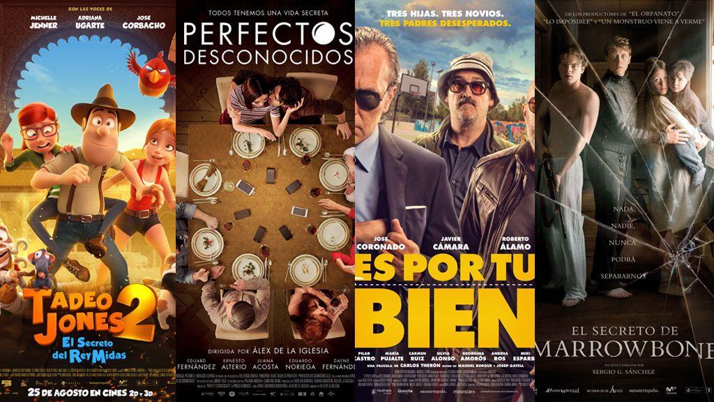 Telecinco Cinema coloca sus cuatro películas del año como las más taquilleras del cine español en 2017