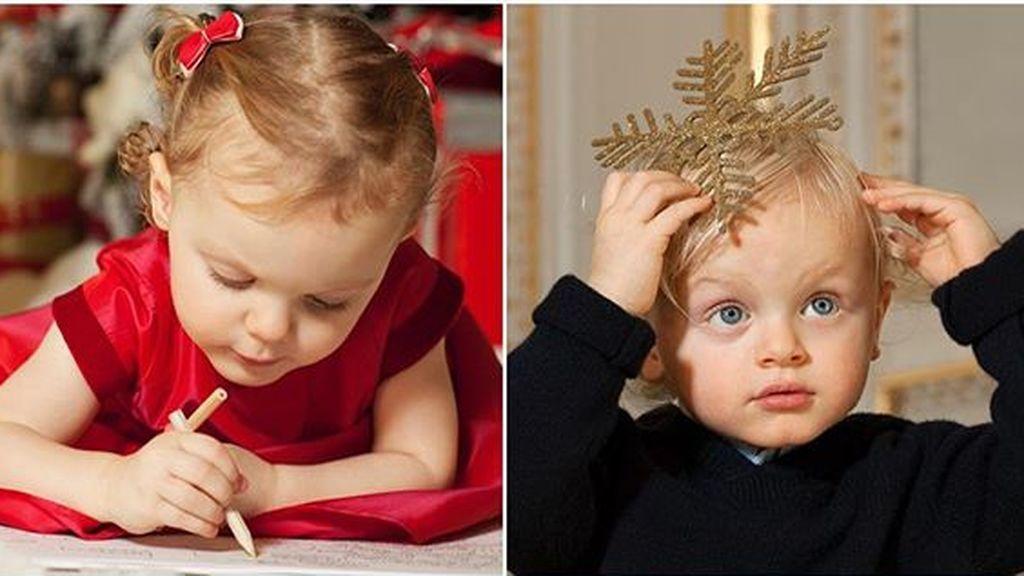 La felicitación navideña de Mónaco tiene por primera vez a dos nuevos protagonistas: Los príncipes Jacques y Gabriella