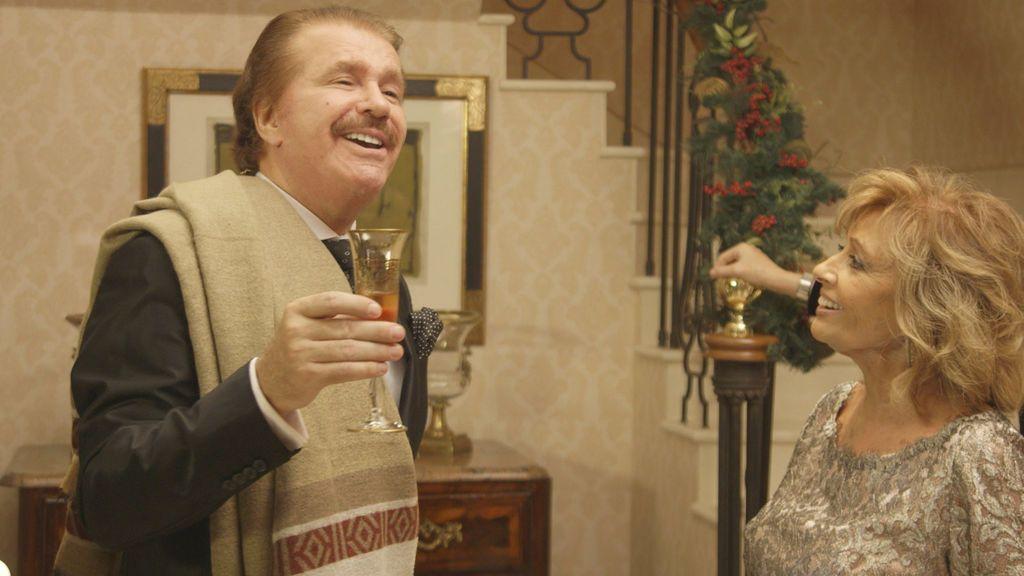 Edmundo Arrocet y María Teresa Campos, durante el especial 'Mamá, ya es Navidad' de 'Las Campos'.
