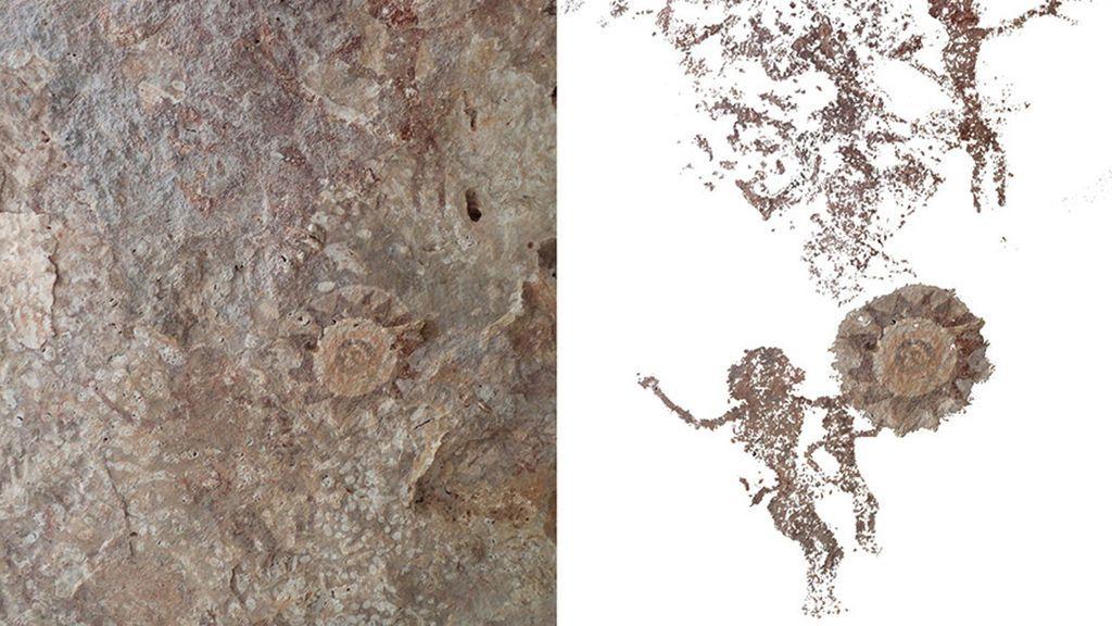 Un tesoro de arte rupestre aparece en una pequeña isla indonesia
