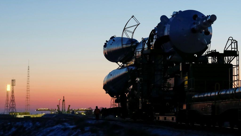 La nave Soyuz MS-07 para la próxima tripulación de la Estación Espacial Internacional (ISS) formada por Norishige Kanai de Japón, Anton Shkaplerov de Rusia y Scott Tingle de los EE. UU.