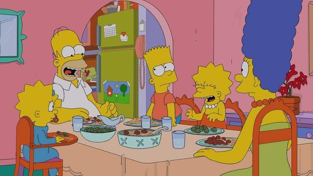 Maggie, Homer, Bart, Lisa y Marge, protagonistas de 'Los Simpson'.