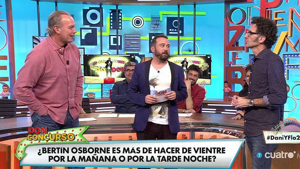 Javier Abascal se atreve con los movimientos intestinales de Bertín Osborne en un doble o nada