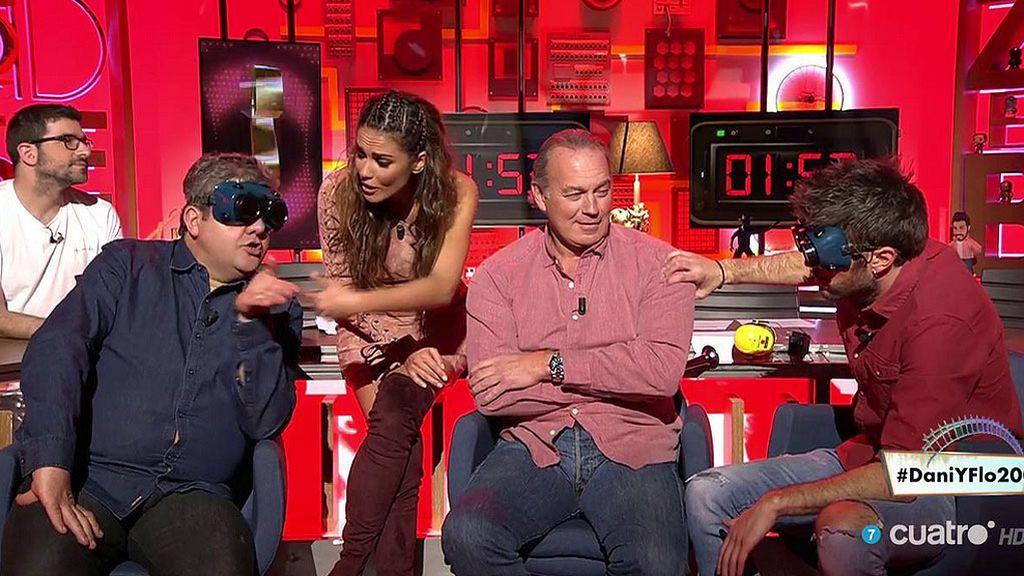 Dani y Flo revolucionados con Bertín Osborne, nuestro invitado sorpresa