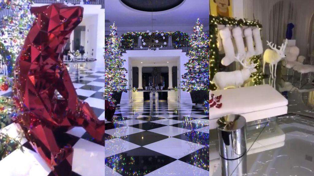 Cuatro árboles, renos robotizados y soldaditos de plomo gigantes: así es la (exagerada) decoración navideña de las Kardashian