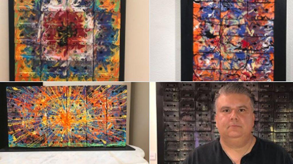 Cuenta en Twitter que nadie ha ido a ver la exposición de su padre y sus obras de arte se hacen virales