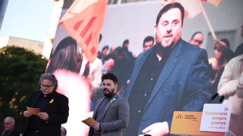 """Junqueras pide el voto para ERC: """"Somos nosotros los que pararemos la infamia"""""""