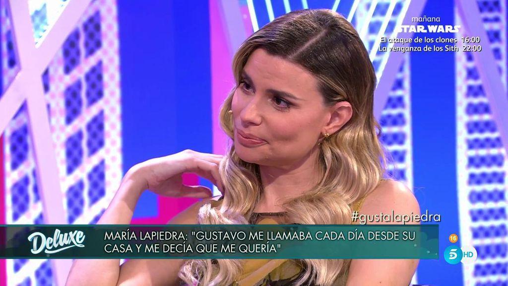 """María Lapiedra: """"Mi marido me ha dicho que cuando llegue mañana a casa él ya no va a estar"""""""