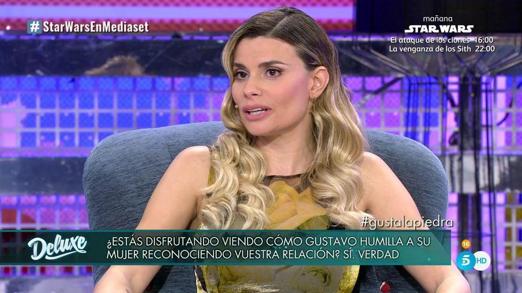 María Lapiedra reconoce que disfruta viendo como Gustavo humilla a su mujer