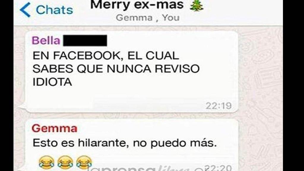 Crea un grupo de Whatsapp con todas sus exnovias para desearles 'Feliz Navidad'