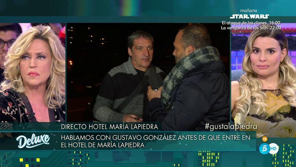 """María Lapiedra, tras entrar Gustavo en directo: """"Yo creo que se ha enfadado"""""""