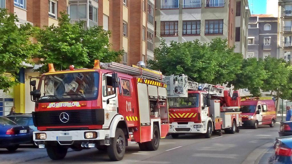 Ocho personas, cuatro menores, con quemaduras e intoxicados en un incendio en Burgos
