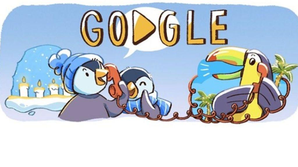 Doodle navideño: Google conmemora la temporada de las fiestas