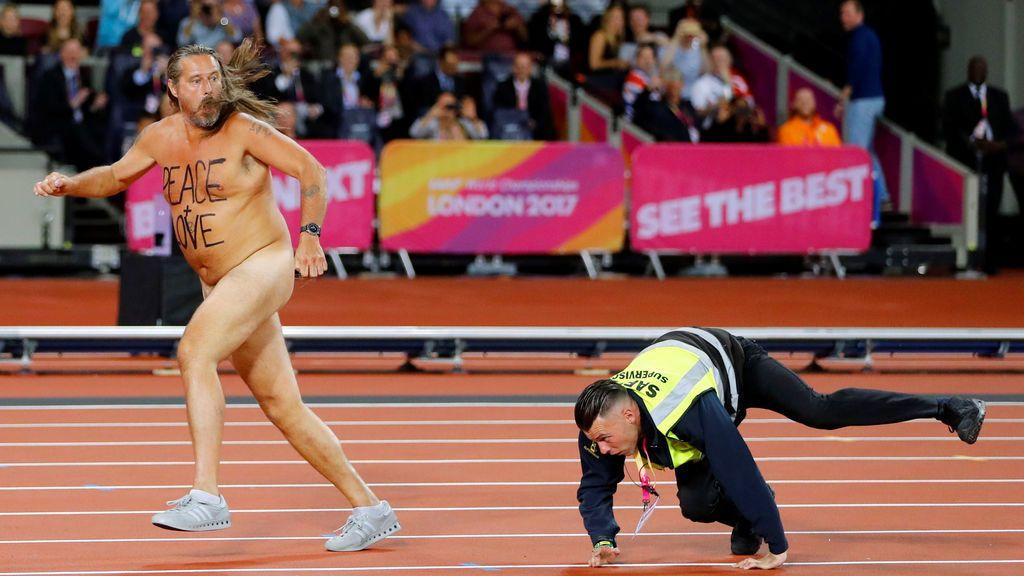 Peace and Love en el Campeonato Mundial de Atletismo en Londres (5 agosto)