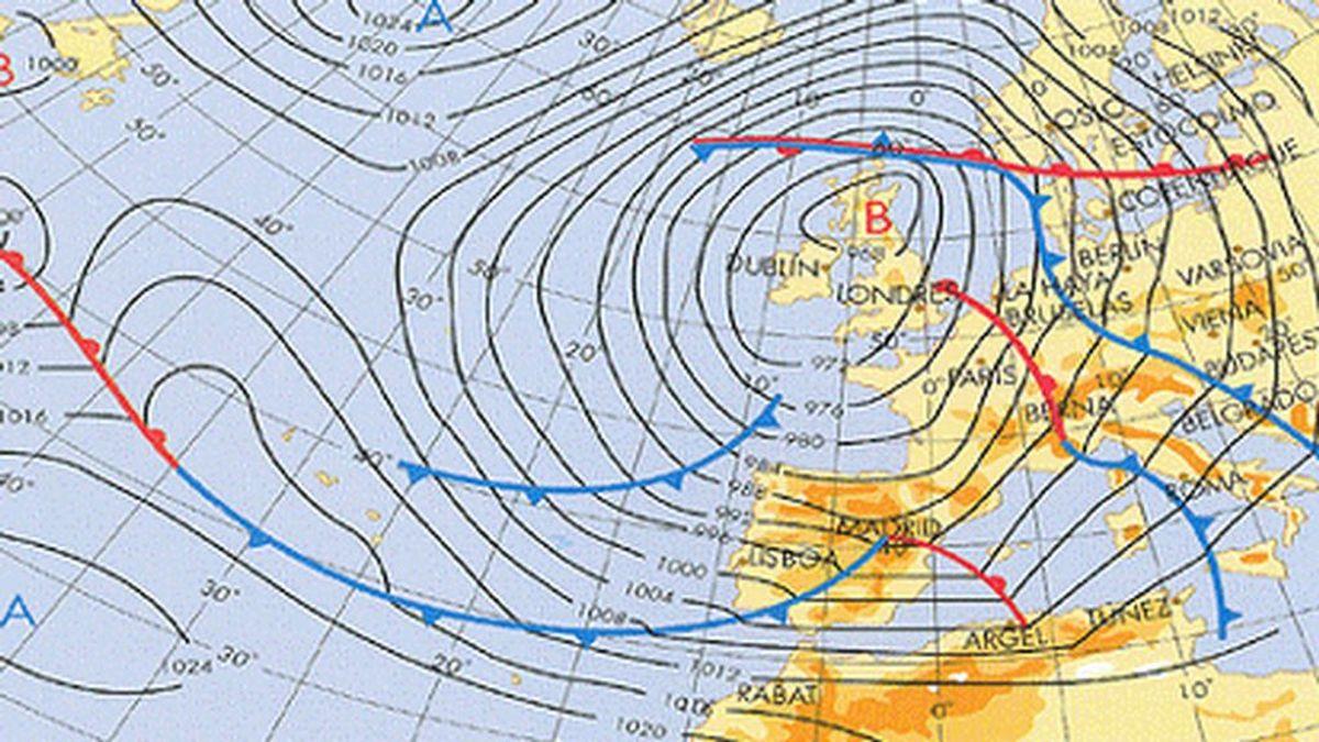 Isobaras: ¿qué nos dicen las rayas azules y rojas de los mapas del tiempo de la tele?