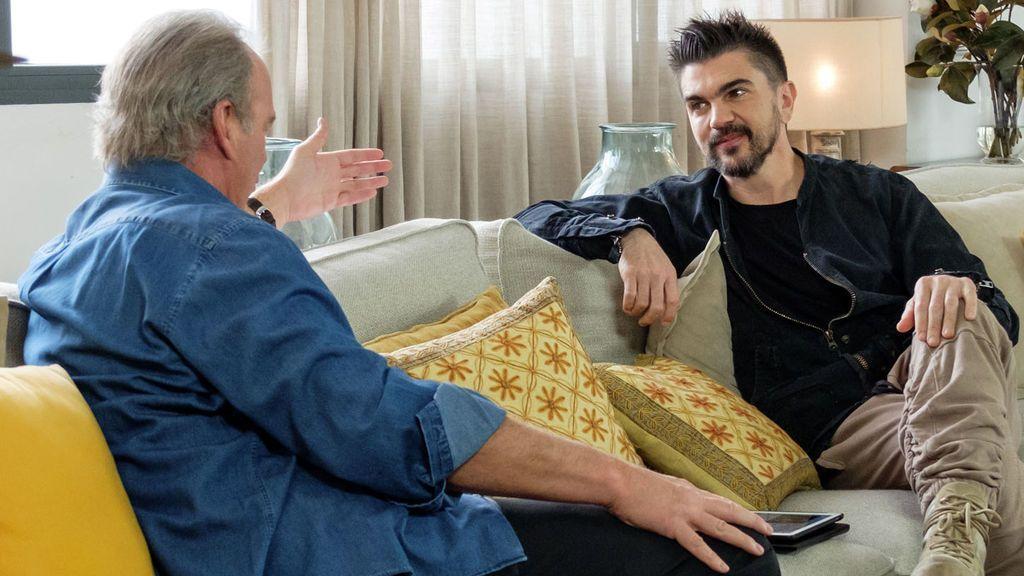 Juanes, 'coach' de 'La voz 5', visita a Bertín Osborne en 'Mi casa es la tuya'.