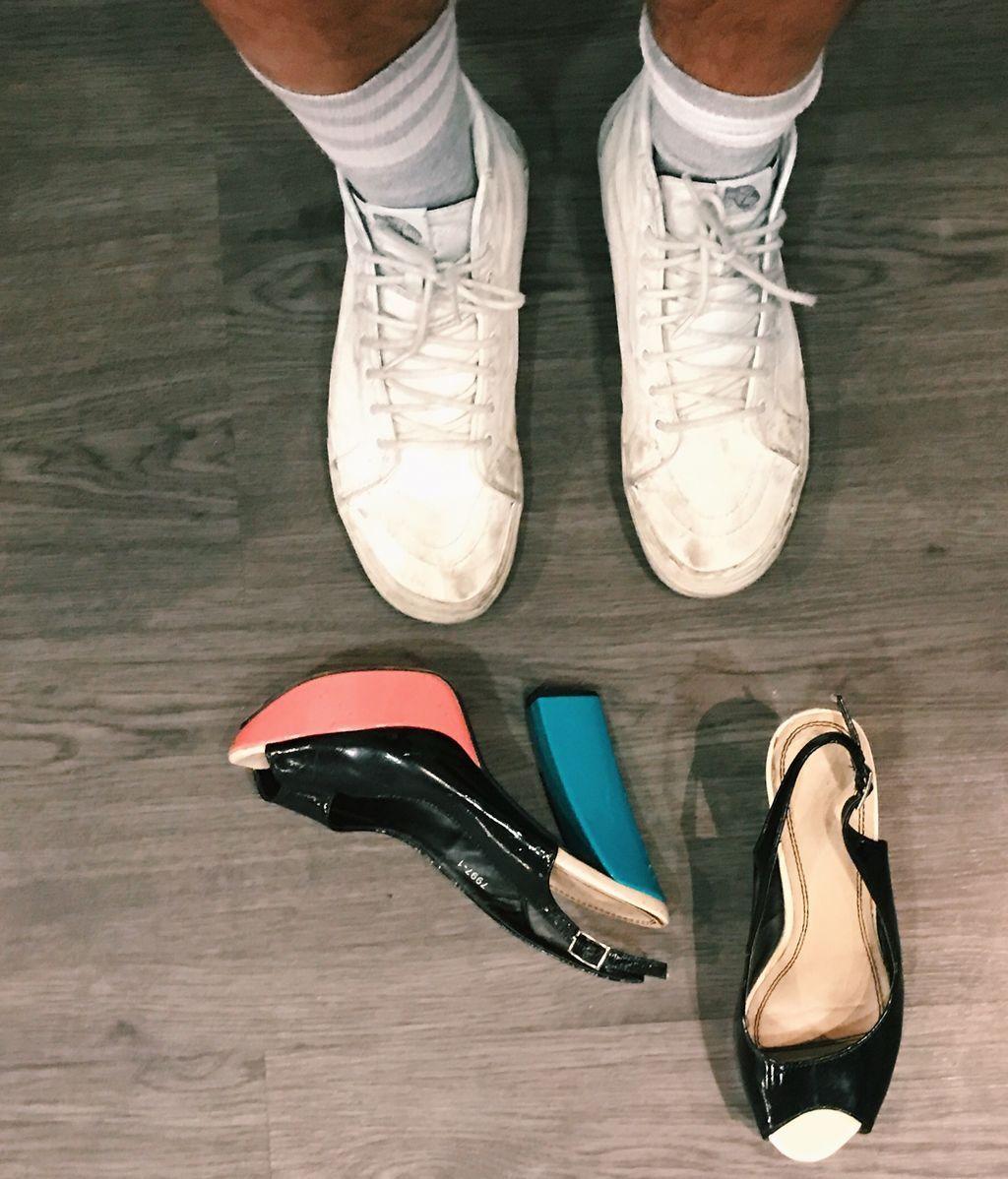 Los zapatos que me provocaron un tirón