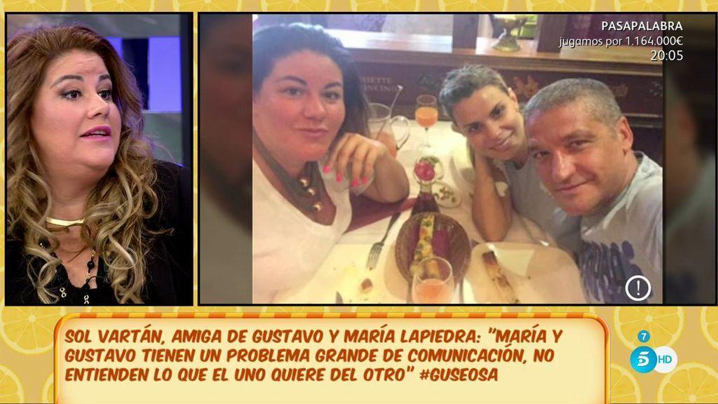 """Sol Vartán, amiga de Gustavo y María: """"Ella es una persona con muchas carencias afectivas"""""""