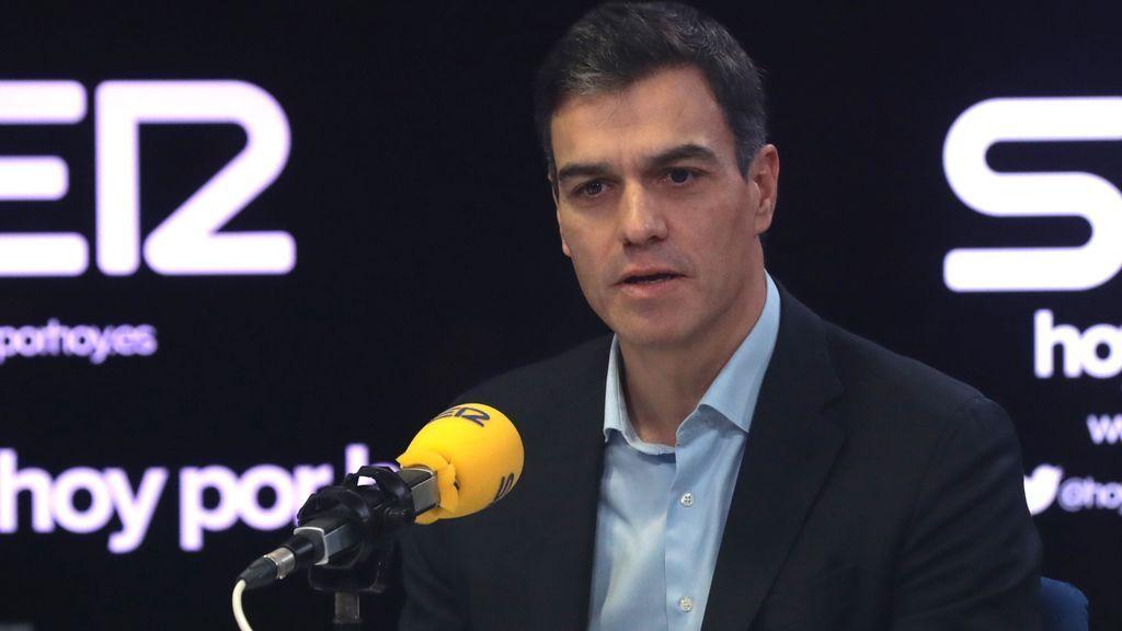Sánchez en una entrevista