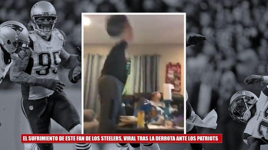 ¡Se vuelve loco! Un fan de la NFL destroza su salón tras perder en los últimos segundos ante los Patriots