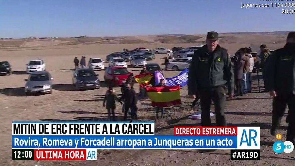 """Boicotean el mitin de ERC en la cárcel de Estremera al grito de """"catalanidad es hispanidad"""""""