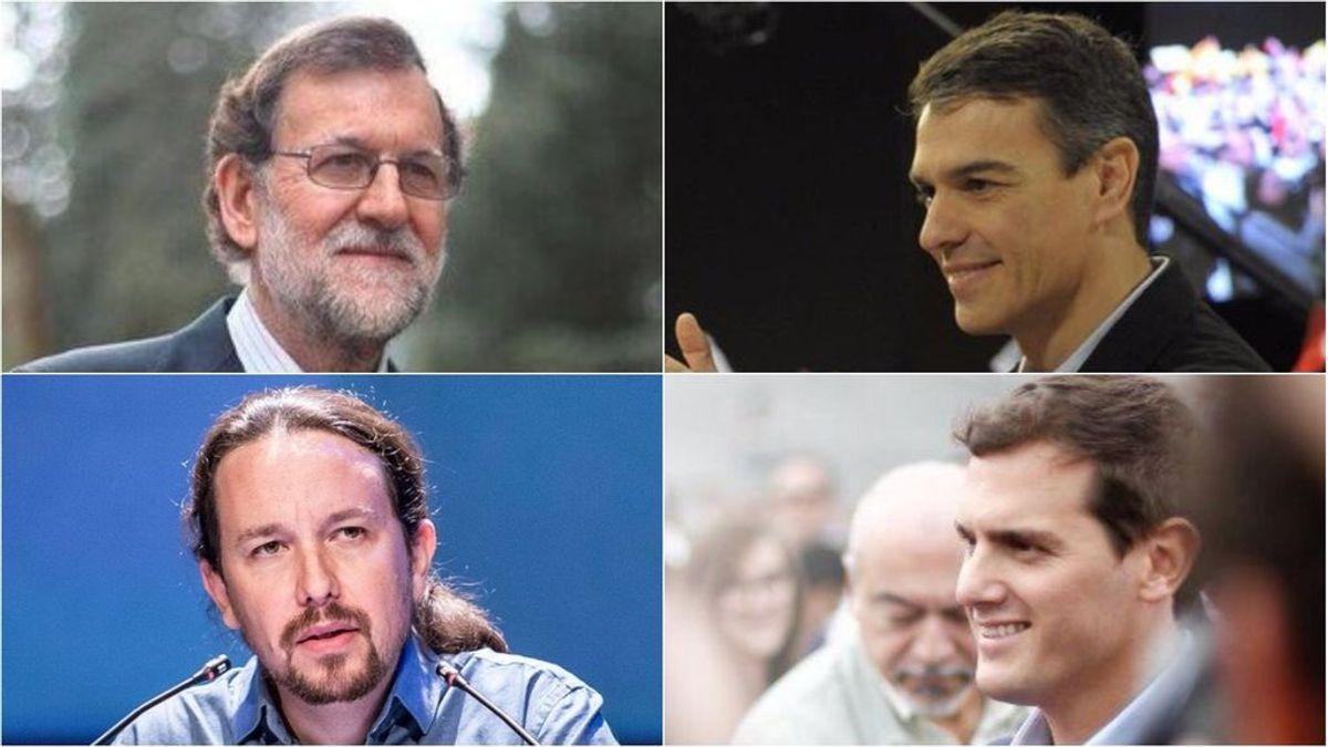 Rajoy, Sánchez e Iglesias seguirán las elecciones desde las sedes de sus partidos; Rivera estará en Barcelona