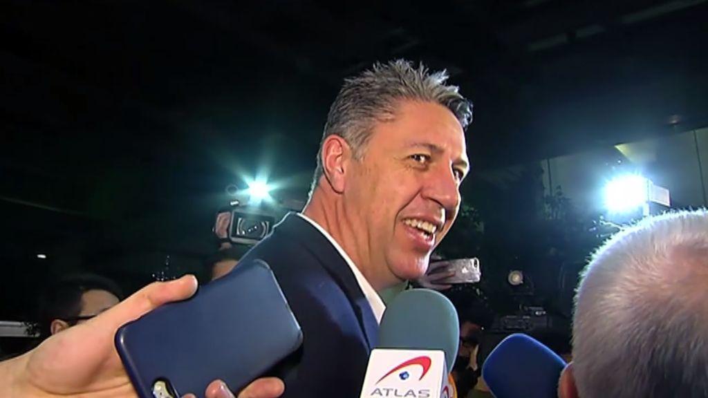 """Albiol al llegar a la sede de la noche electoral: """"Puede ocurrir de todo"""""""