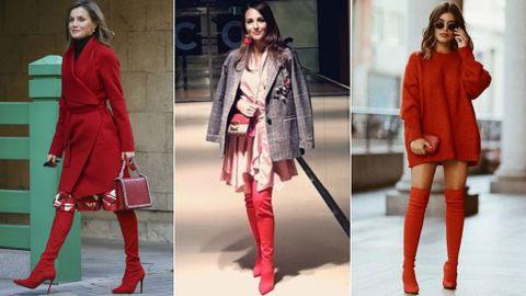 17fed9bb ¿Por qué tú también vas a querer las botas rojas de Letizia, Paula  Echevarría y Dulceida?