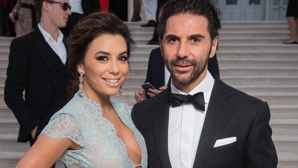 La actriz Eva Longoria junto a su marido, el ejecutivo de Televisa José Antonio Bastón.