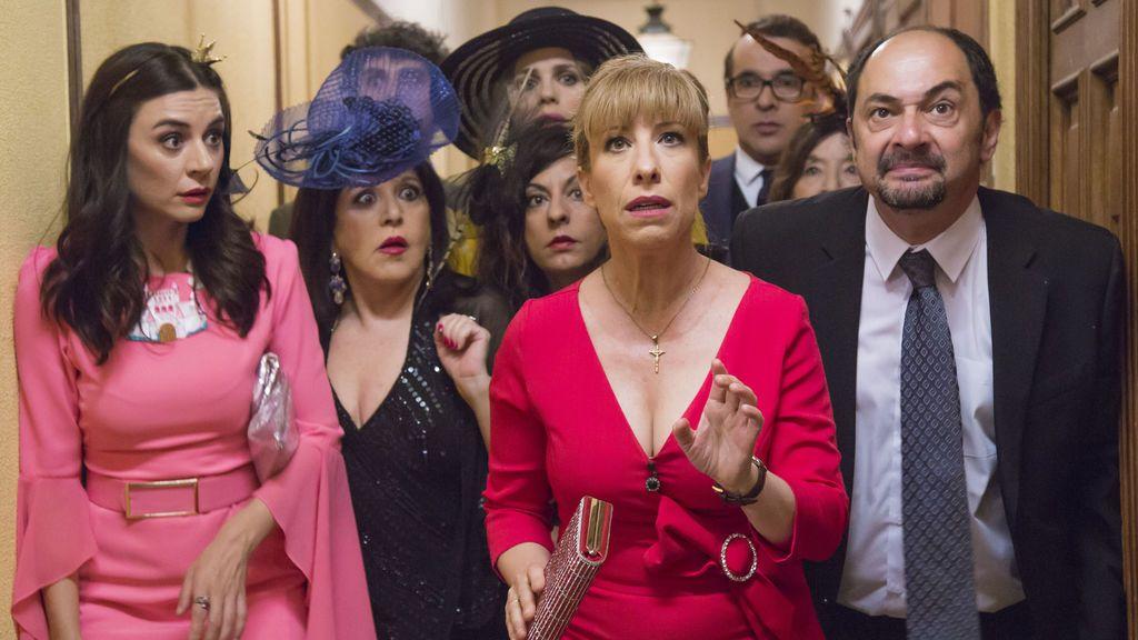 Varios de los actores de 'La que se avecina', en el último capítulo de la décima temporada de la serie.