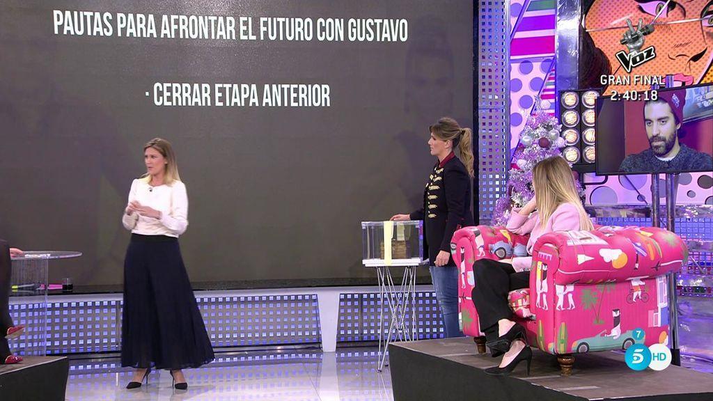 Cristina Soria le da las pautas a María Lapiedra para afrontar el futuro con Gustavo