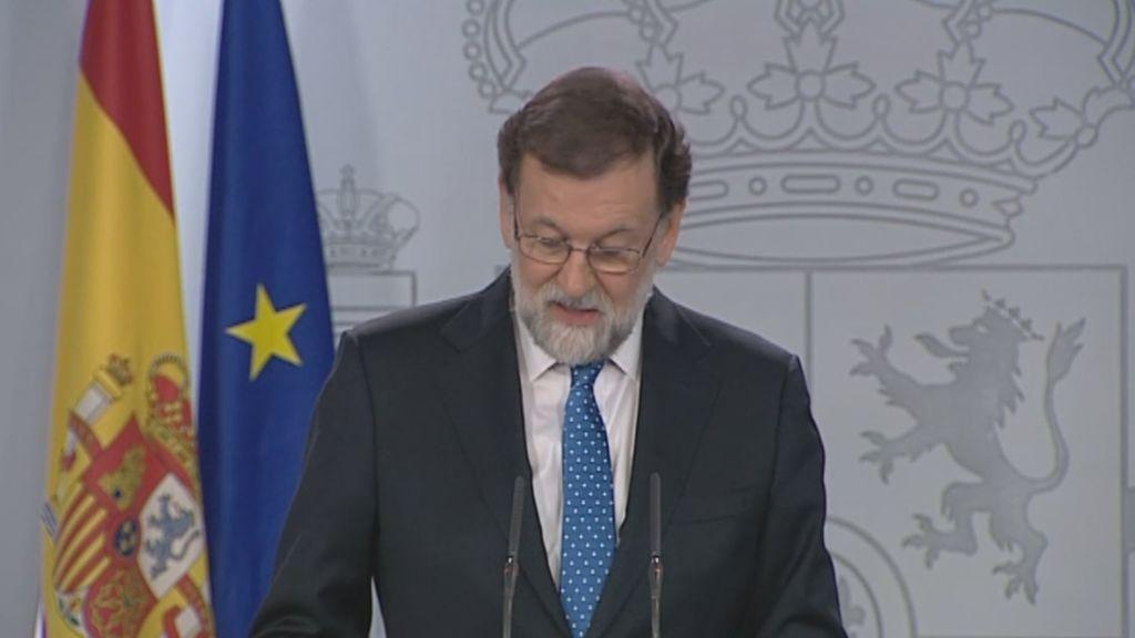 Rajoy rechaza el encuentro con Puigdemont y avisa de que el nuevo Gobierno catalán estará sometido a la ley